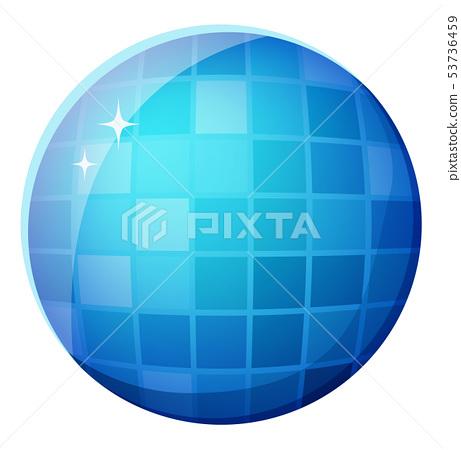 Discotheque Mirror Ball, Shiny Round Shape Vector 53736459