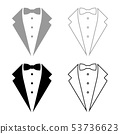 Symbol service dinner jacket bow Tuxedo concept 53736623