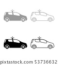 Security car Police car Car with siren icon set 53736632