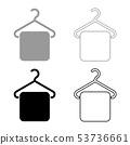 Towel on hanger Hanger towel Clothes hanger with 53736661