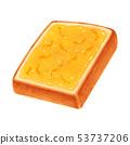토스트 마멀레이드 잼 두껍게 썬 각형 53737206