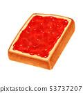 토스트 딸기 잼 두껍게 썬 각형 53737207