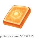 토스트 버터 두껍게 썬 각형 53737215