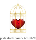broken heart in a golden cage 53738029