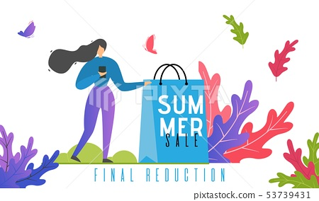 Summer Final Sales and Price Reduction Banner 53739431