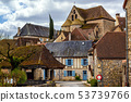 Creysse, a typical french village in Haut Quercy 53739766
