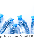 Several drinking water bottles on white background 53741390