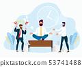 Professional Stress Management at Work Cartoon. 53741488