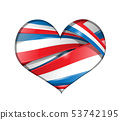 france background heart flag 53742195