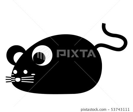 Mouse Year 2020 ภาพประกอบการ์ดปีใหม่ 53743111