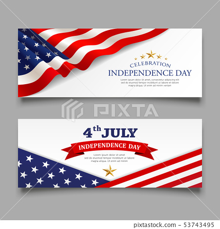 Celebration flag america independence day banner 53743495