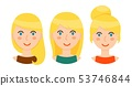 Avatars of blonde women with different hairstyles set 53746844