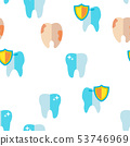 Tooth Icon Vector Seamless Pattern 53746969