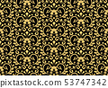 Floral pattern. Vintage wallpaper in the Baroque 53747342
