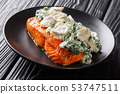 Italian salmon fillet recipe consists of topped 53747511