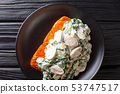 Florentine Salmon is simmered in a creamy wine 53747517