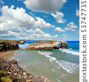 Cantabric coast summer landscape. 53747735