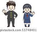 初中和高中男孩和女孩(校运和水手服) 53748401