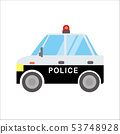 일하는 자동차 일러스트 자동차 | 경찰차 경찰 차량 | 데포 만화 · 애니메이션 풍의 벡터 데이터 53748928