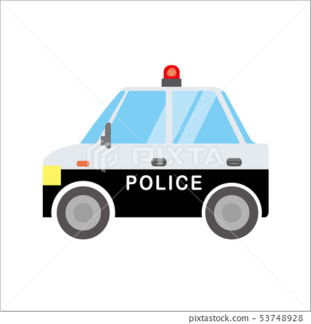 Illustration of a working car Automobile   Police car   Police vehicle   Deformation/Comic/Anime style vector data 53748928