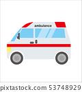 일하는 자동차 일러스트 자동차   구급차   데포 만화 · 애니메이션 풍의 벡터 데이터 53748929