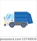 일하는 자동차 일러스트 자동차 | 쓰레기 트럭 | 데포 만화 · 애니메이션 풍의 벡터 데이터 53748936