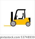 일하는 자동차 일러스트 자동차   지게차   데포 만화 · 애니메이션 풍의 벡터 데이터 53748939