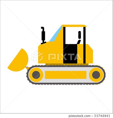 汽車的工作車插圖|推土機|變形,漫畫,動漫風格矢量數據 53748941