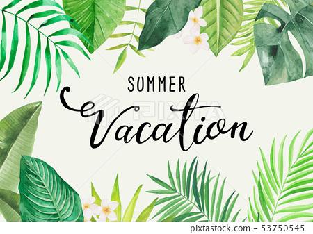 여름 방학 캘리그라피 포스터 53750545