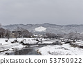 Kamogawa - snow scenery 53750922