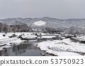 Kamogawa - snow scenery 53750923