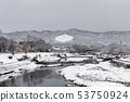 Kamogawa - snow scenery 53750924