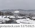 Kamogawa - snow scenery 53750925
