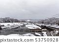 Kamogawa - snow scenery 53750928