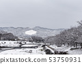 Kamogawa - snow scenery 53750931