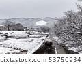 Kamogawa - snow scenery 53750934