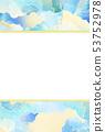 背景 - 日本 - 日本風格 - 日本模式 - 日本紙 - 夏天 - 框架 - 淺藍色 53752978