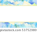 Background-Japanese-Japanese style-Japanese pattern-Japanese paper-summer-frame-light blue 53752980