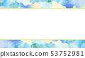 背景 - 日本 - 日本風格 - 日本模式 - 日本紙 - 夏天 - 框架 - 淺藍色 53752981