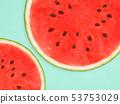 배경 - 여름 - 수박 - 블루 53753029