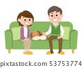 老年夫婦和寵物 53753774