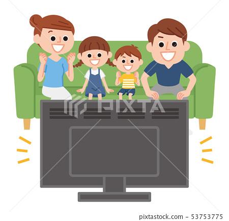 看電視的家庭 53753775