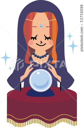 Female fortune teller 53758096