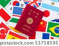 국기 여권 53758595