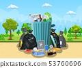 Garbage dump in park. 53760696