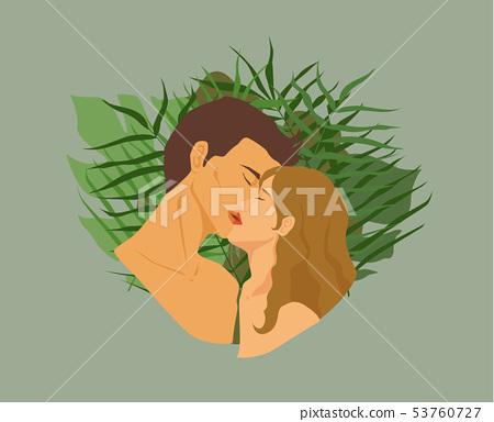 一個女人和一個女人接吻 53760727