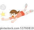 Volleyball Girls Receive 53760819