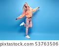 Fashion Hipster Girl Having Fun enjoy music dance 53763506