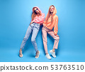 Two hipster Girl Fool Around, Stylish neon Outfit 53763510