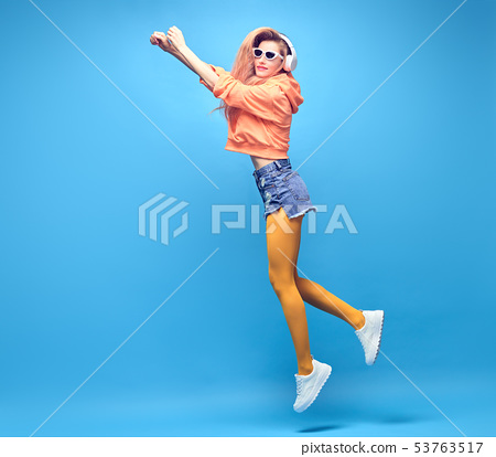 Hipster DJ Girl Fool Around dance, Stylish Outfit 53763517